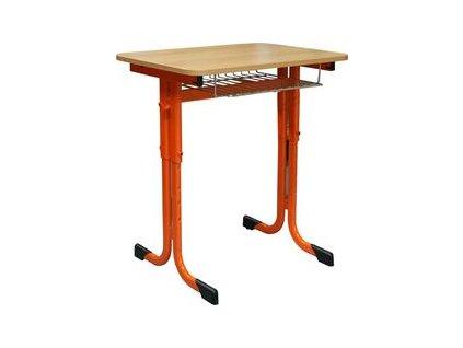 Školní lavice Expert stavitelná 1-místná (Velikost nábytku 2-6, Barva Jiná - uveďte do poznámky, Odkládací prostor Police, Horní deska DTDL, ABS hrana, bez naklápění)
