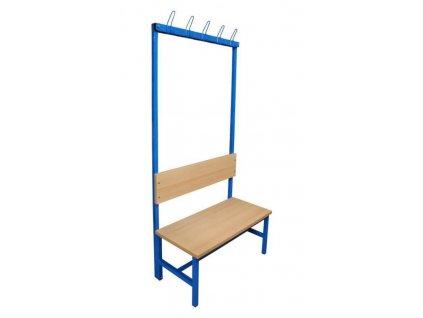 lavička s věšáky jednostranná