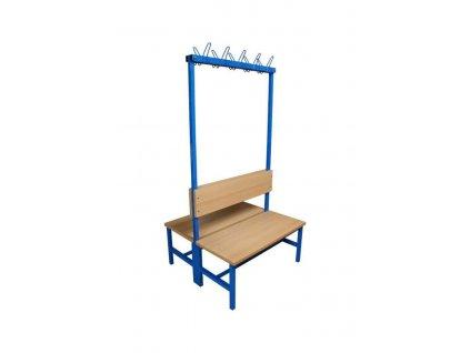 lavička s věšáky oboustranná