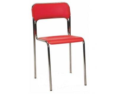 konferenční židle Askona červená
