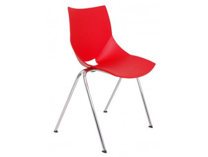 konferenční židle Shell červená