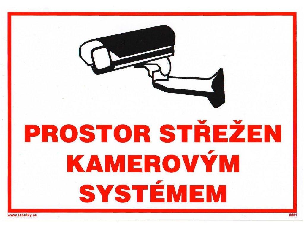 Prostor střežen kamerovým systémem