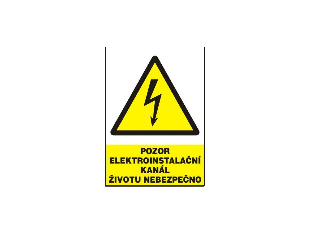 Pozor - elektroinstalační kanál - životu nebezpečno