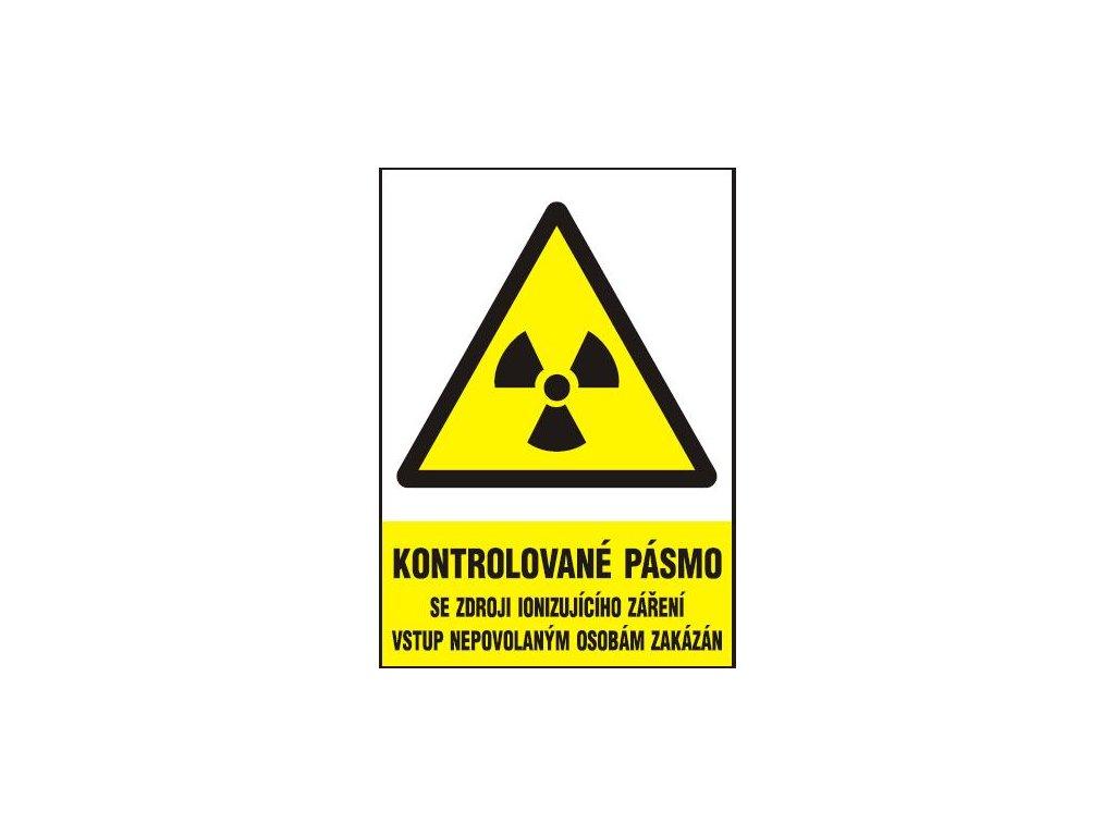 Kontrolované pásmo se zdroji ionizujícího záření vstup nepovolan