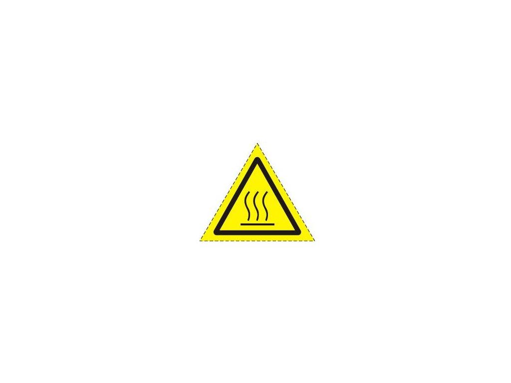 Symbol horký povrch - sálavé teplo