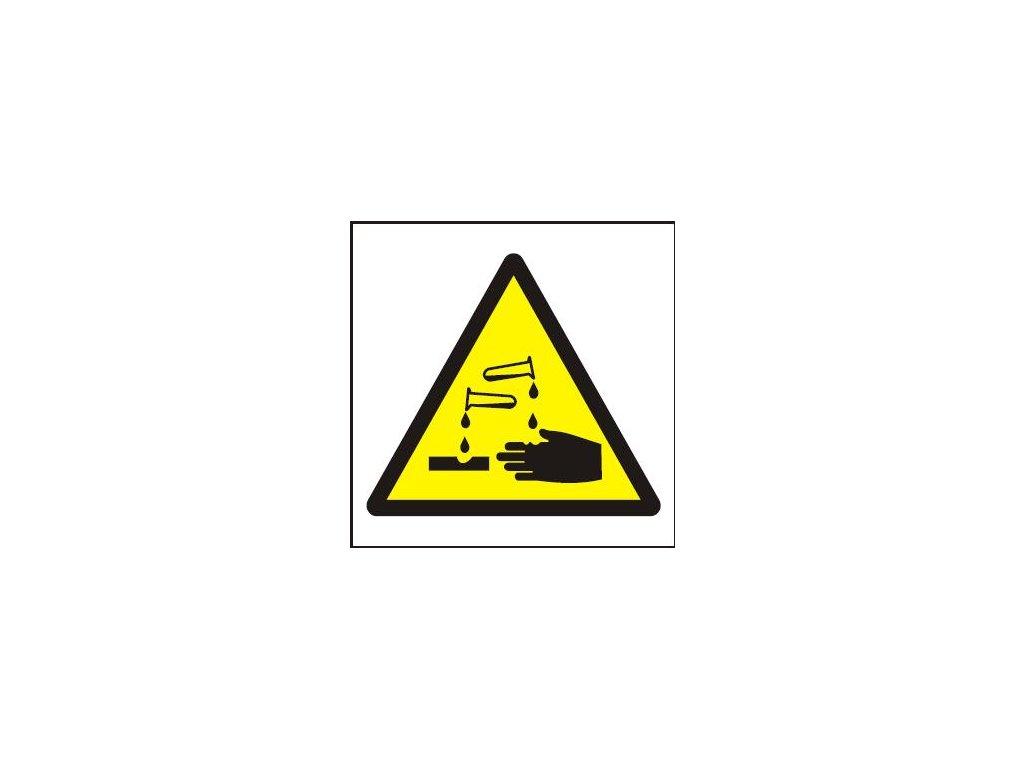 Symbol - riziko koroze nebo poleptání