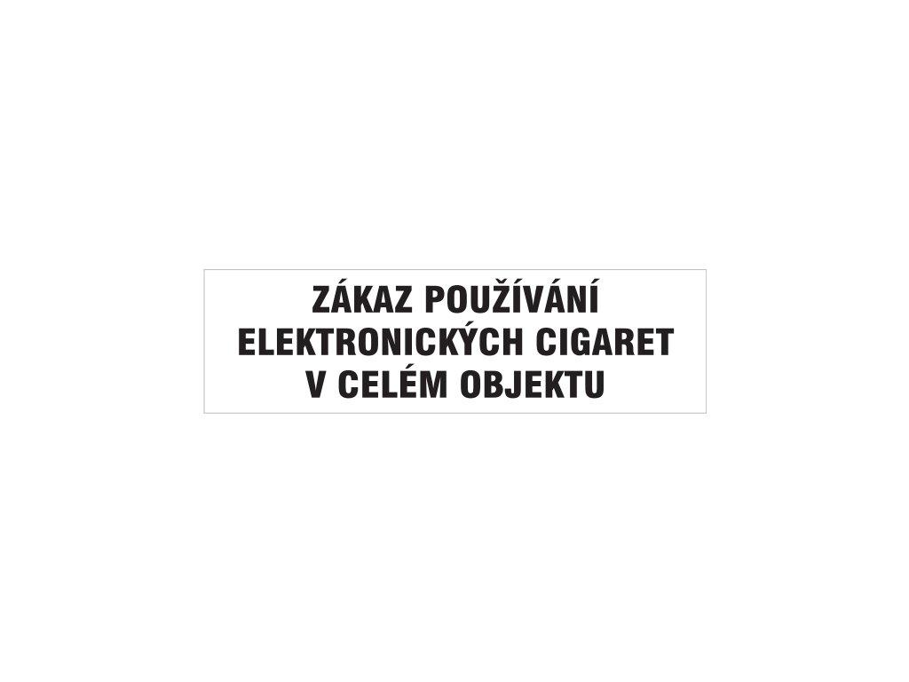 Zákaz používání elektronických cigaret v celém objektu