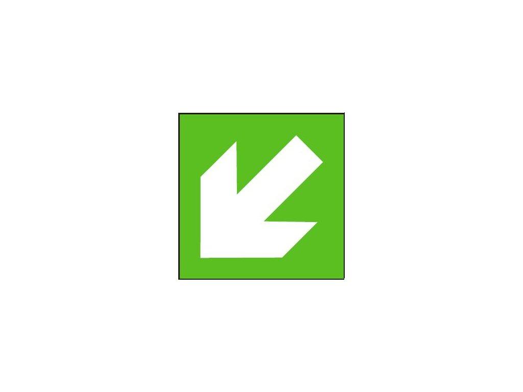 Symbol - směr úniku šikmý