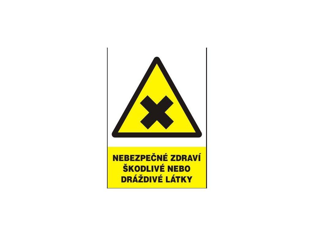 Nebezpečné zdraví škodlivé nebo dráždivé látky