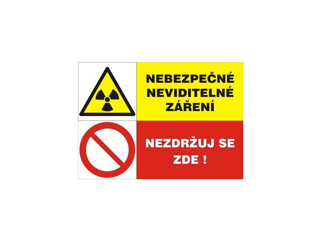 Nebezpečné neviditelné záření - Nezdržuj se zde!