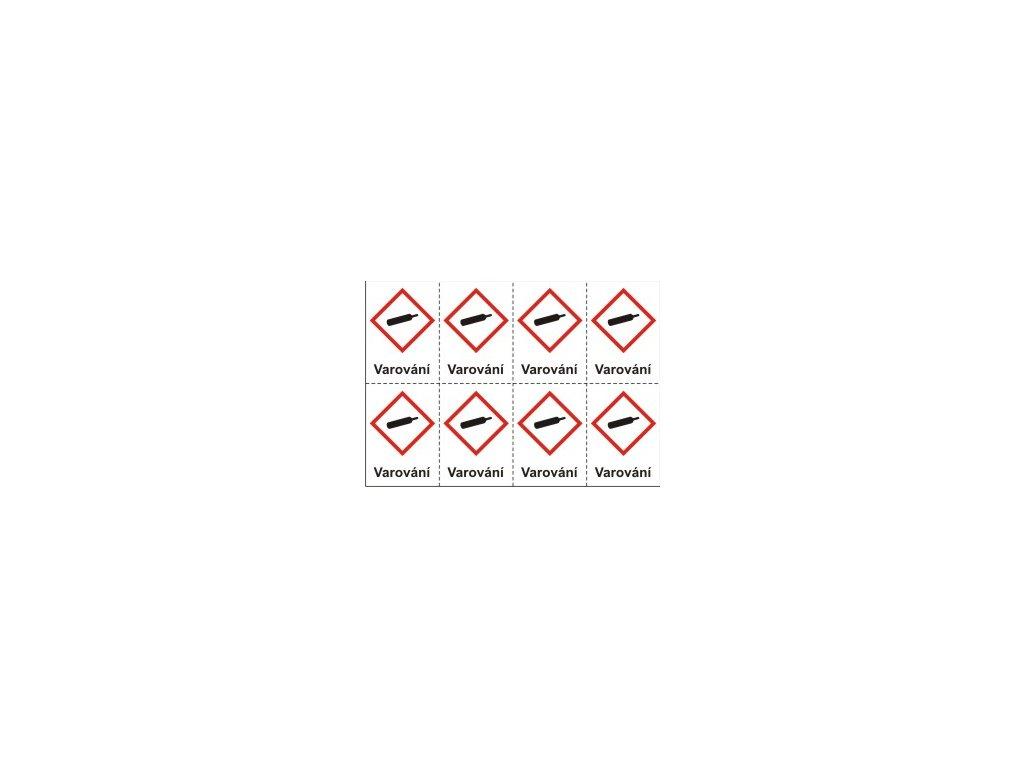 Plyny pod tlakem – varování (GHS04)