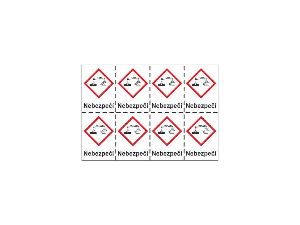 Korozivní – nebezpečí  (GHS05)