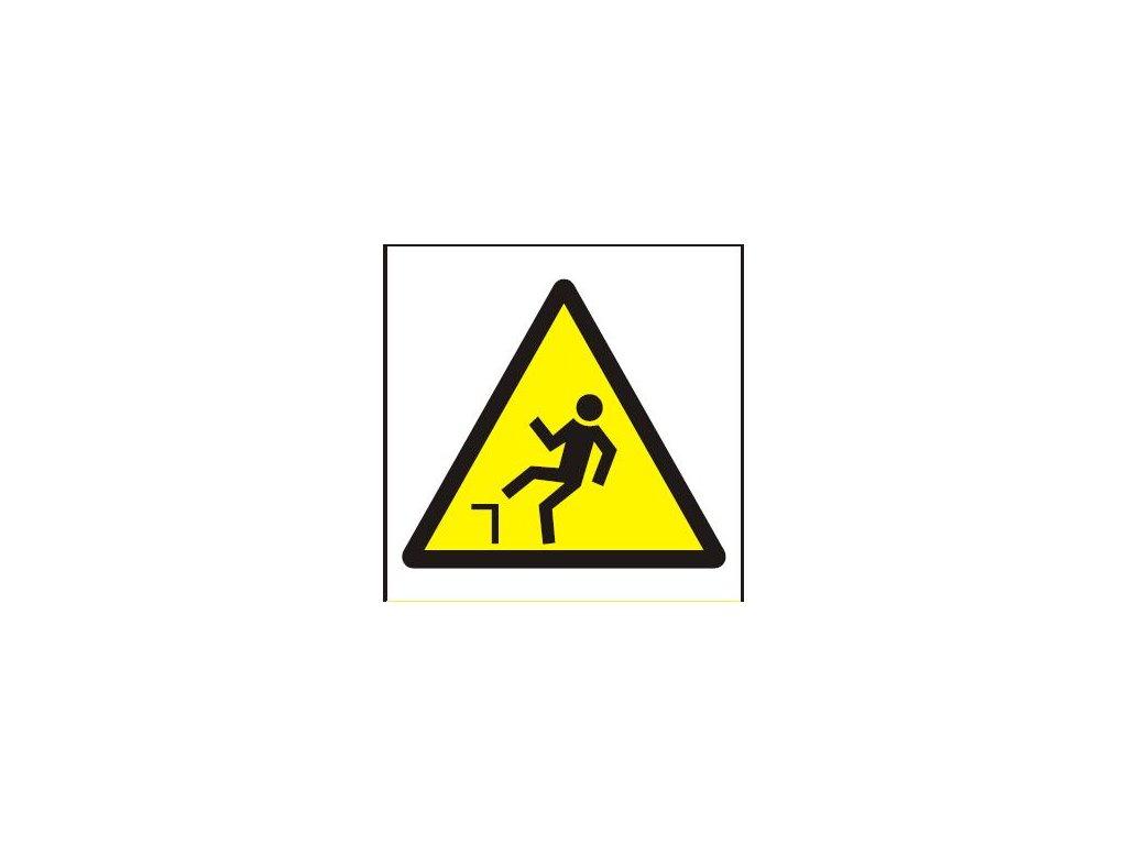 Symbol - nebezpečí pádu