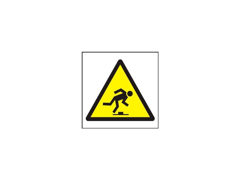 Symbol - nebezpečí zakopnutí