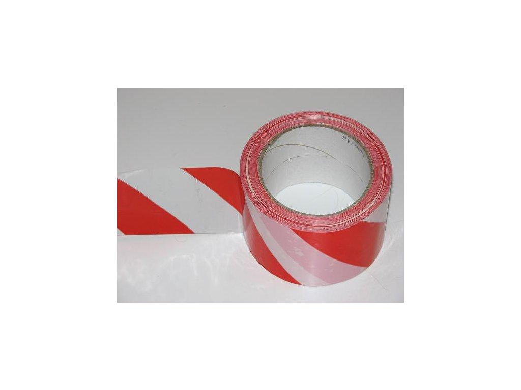 Páska G protisměrná samolepící, červenobílá, šíře 60 mm
