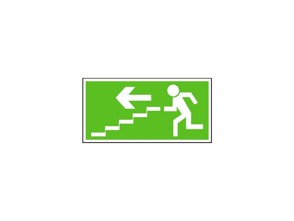 Únikové schodiště vlevo dolů