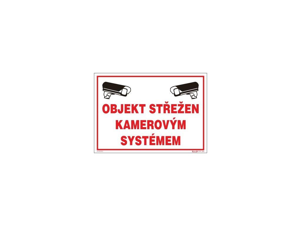 Objekt střežen kamerovým systémem - A3