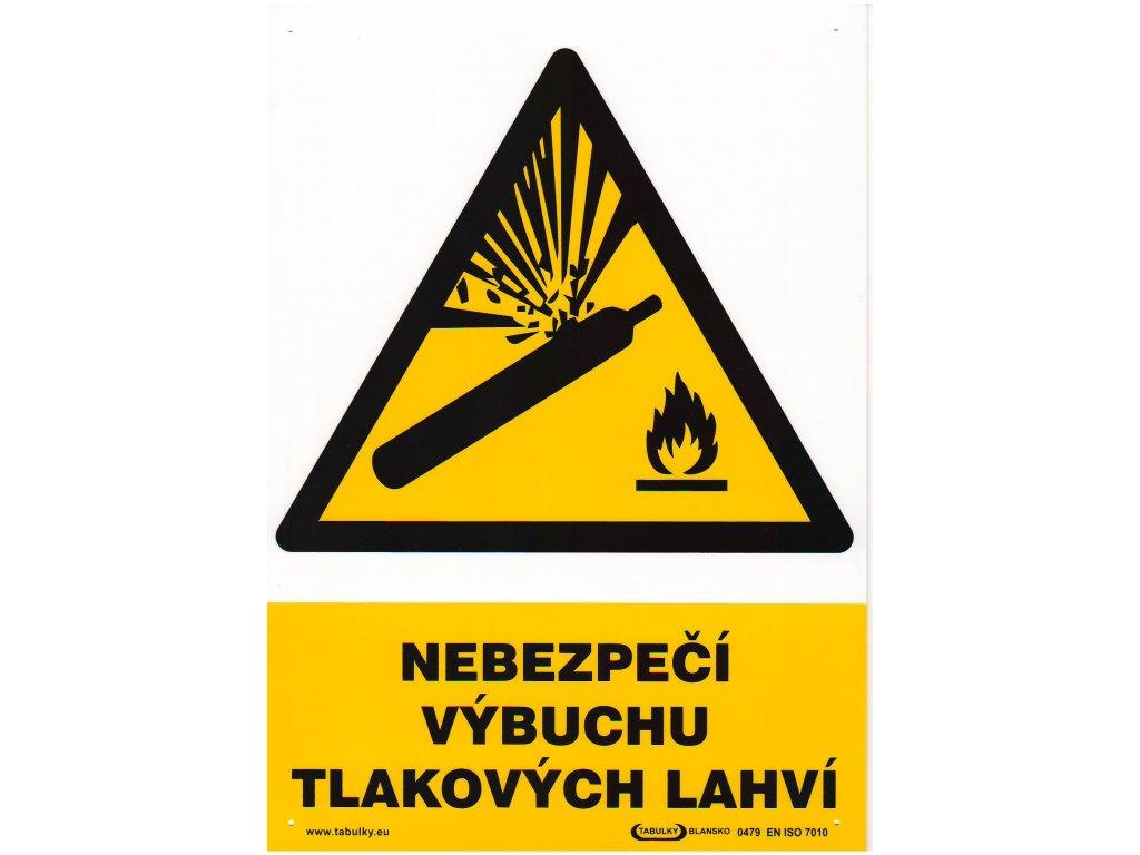 Nebezpečí výbuchu tlakových lahví