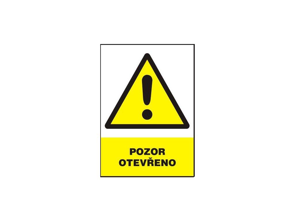 Pozor - otevřeno