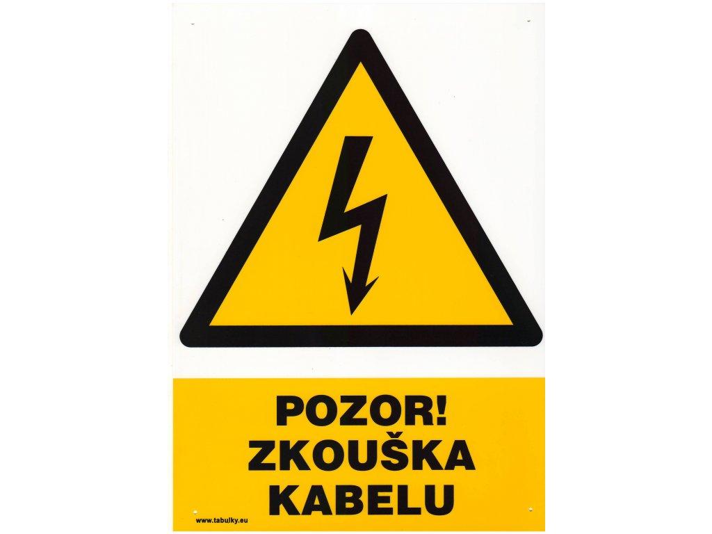 Pozor zkouška kabelu