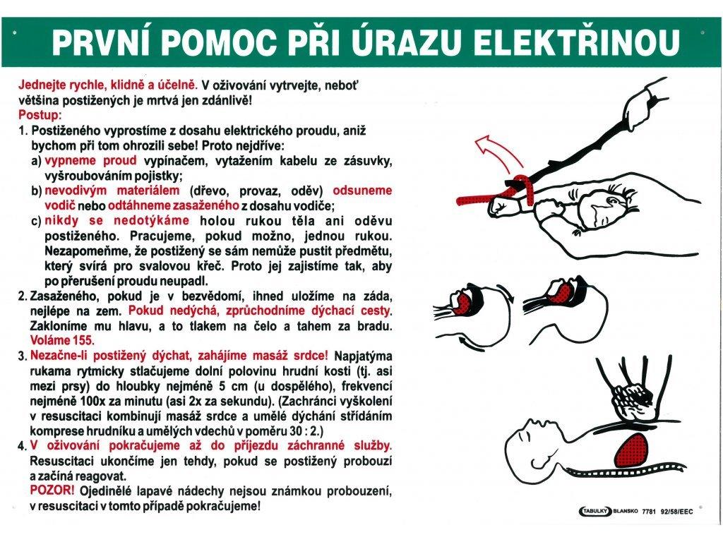 prvni pomoc pri urazu elektrinou