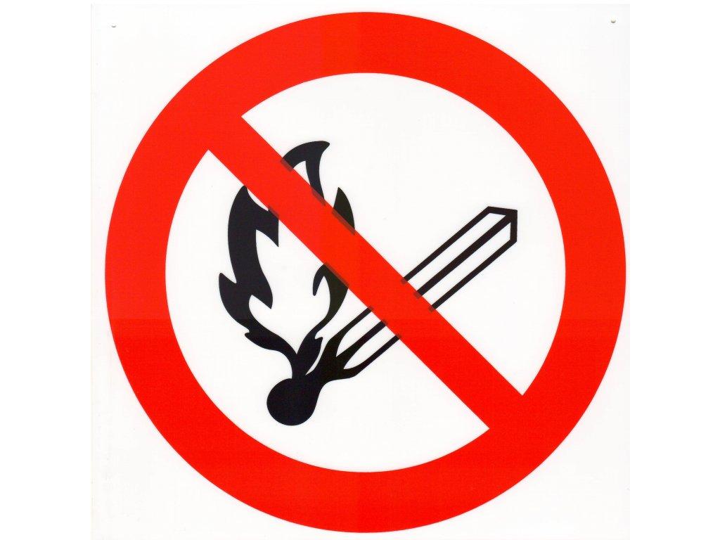Symbol - zákaz výskytu otevřeného ohně