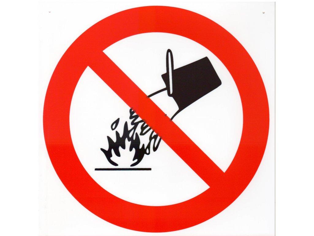 Symbol - zákaz hašení vodou