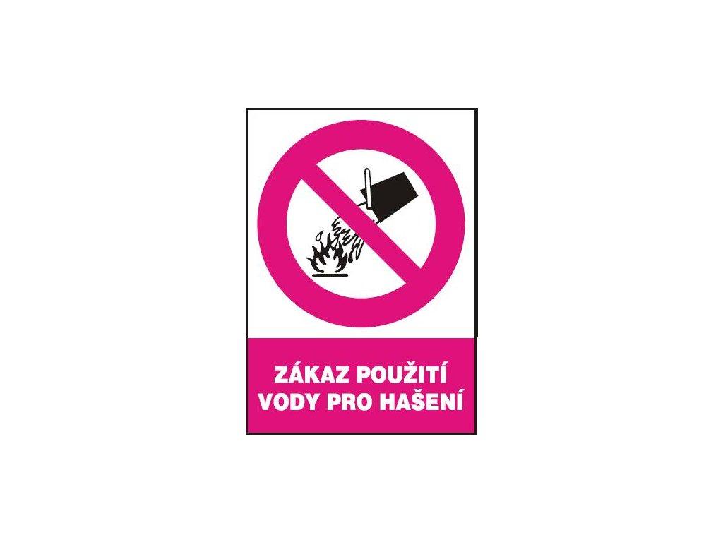 Zákaz použití vody pro hašení