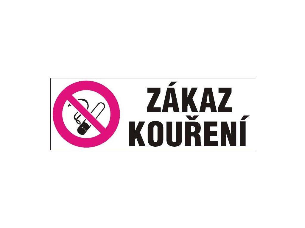 Zákaz kouření - dle zákona č. 379/2005 (na plastu tl. 1 mm)
