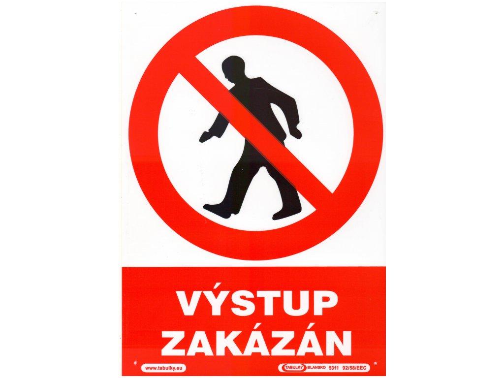Výstup zakázán