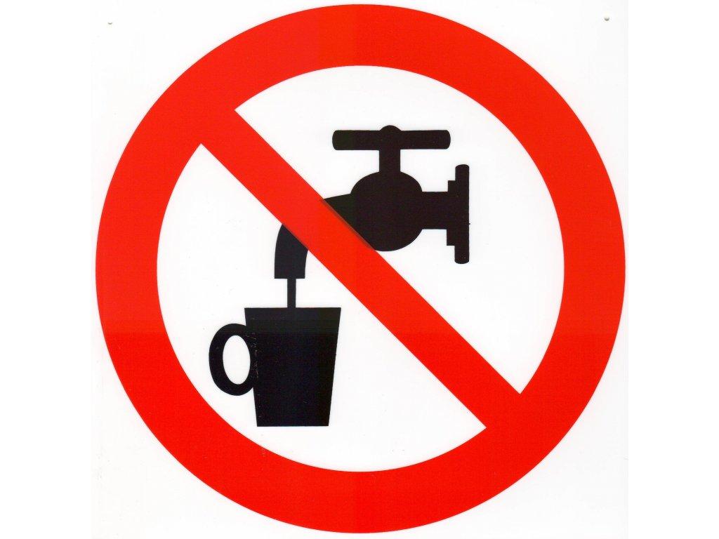 Symbol - zákaz pití vody