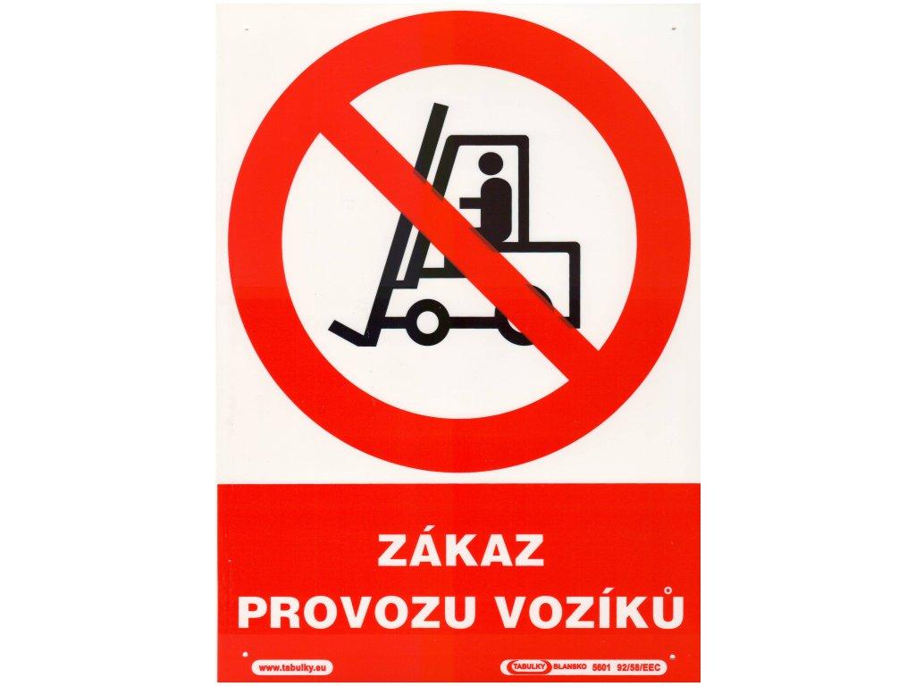 Zákaz provozu vozíků