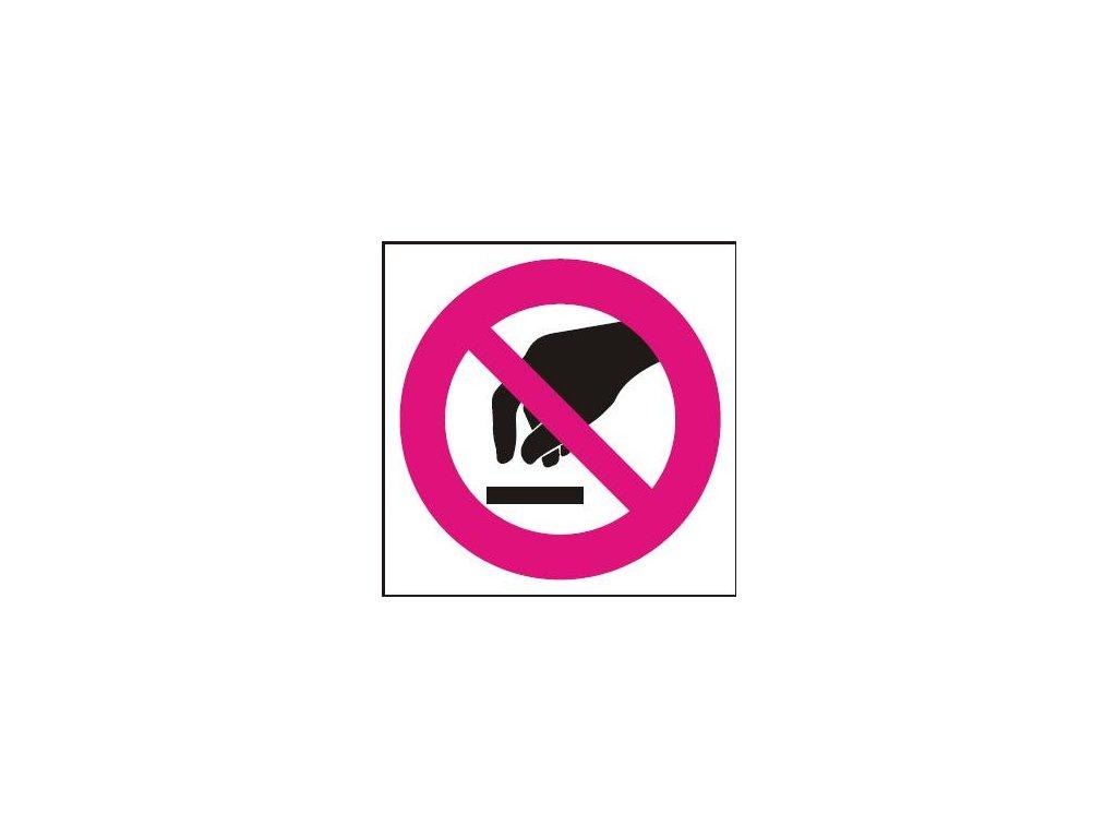Symbol - zákaz dotyku