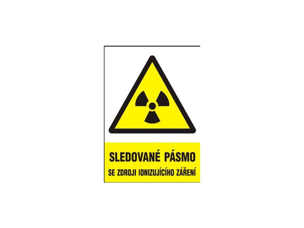 Sledované pásmo se zdroji ionizujícího záření
