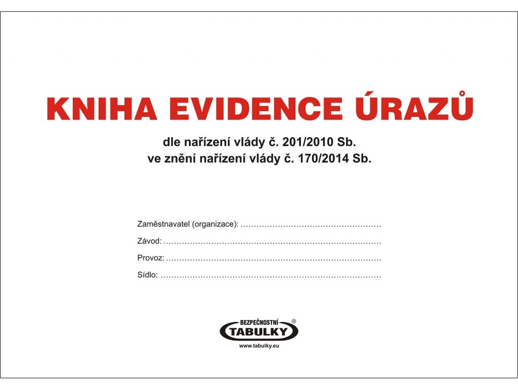 Kniha evidence úrazů