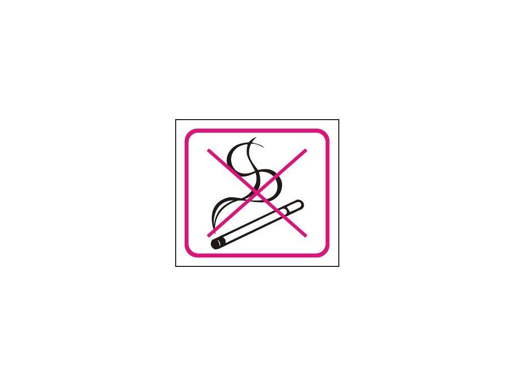Symbol - zákaz kouření bezpečnostní tabulka
