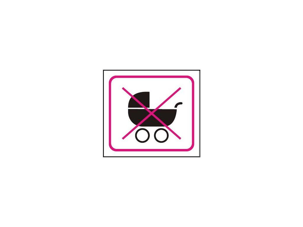 Symbol - zákaz vstupu s kočárkem