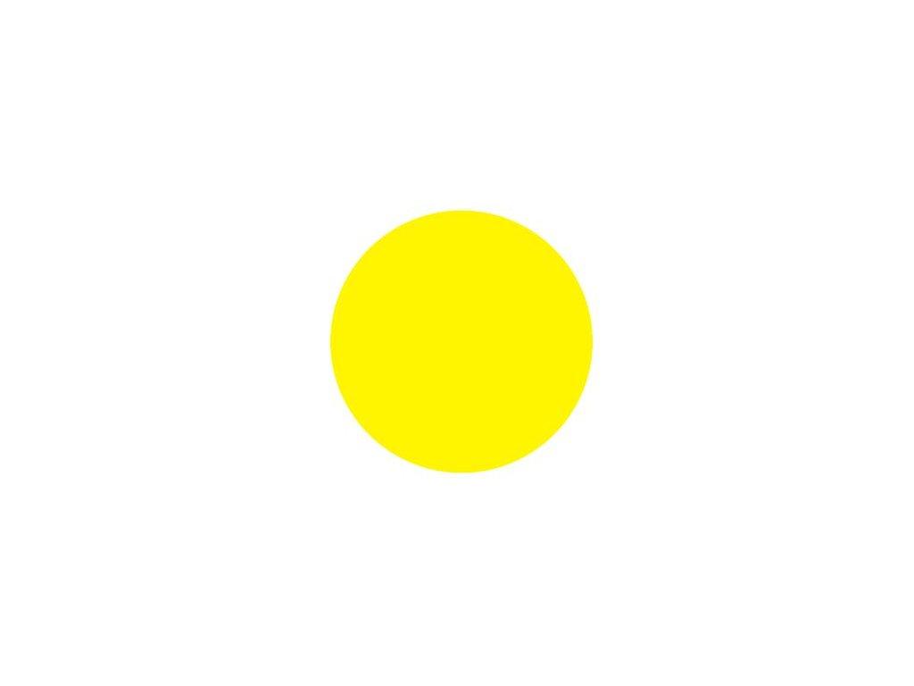 Výstražné kolečko žluté barvy