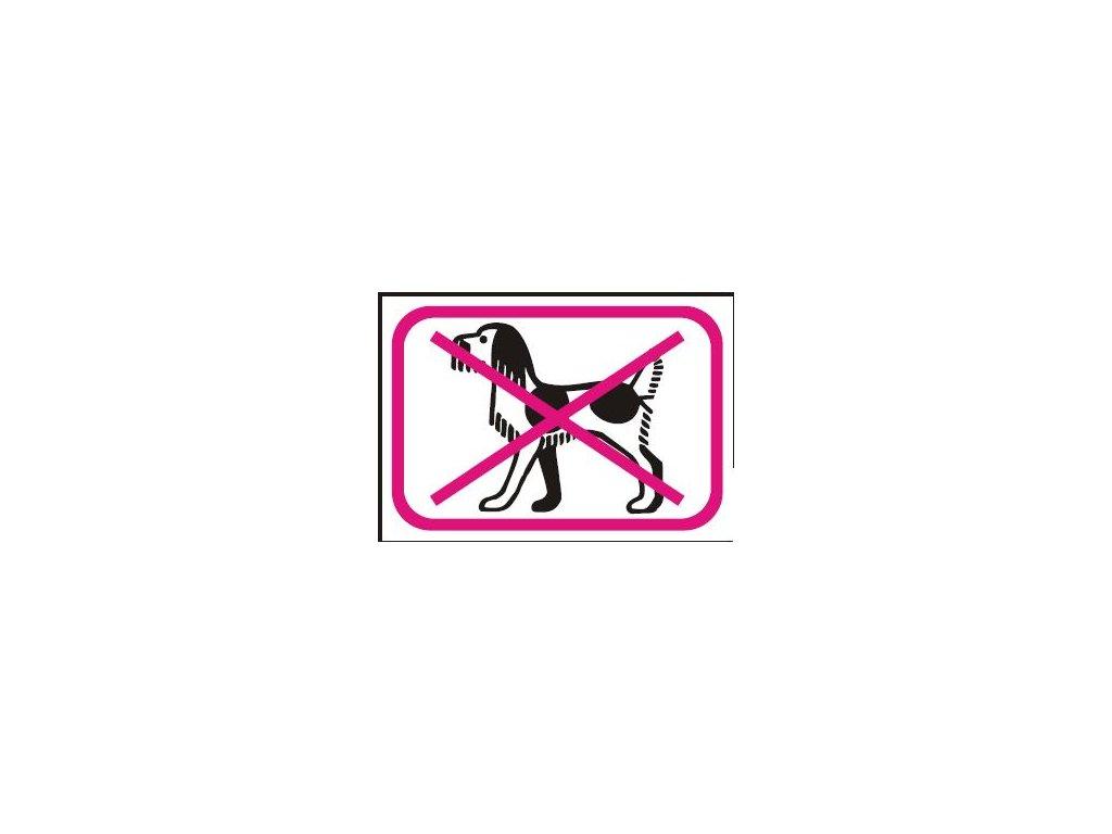 Symbol - zákaz vstupu se psem