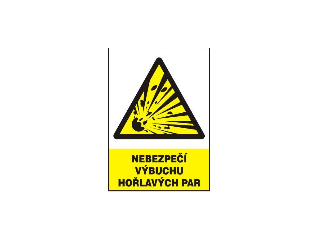 Nebezpečí výbuchu hořlavých par