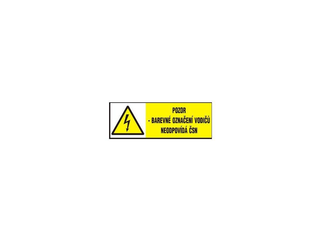 Pozor - barevné označení vodičů neodpovídá ČSN