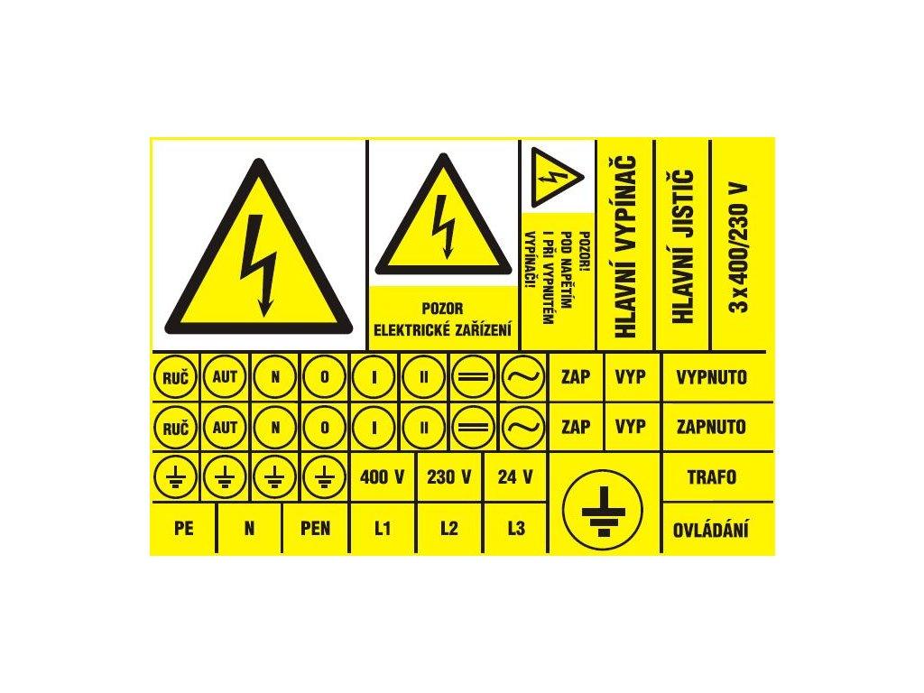 Aršík elektroznačení - 44 symbolů (typ 3x blesk)