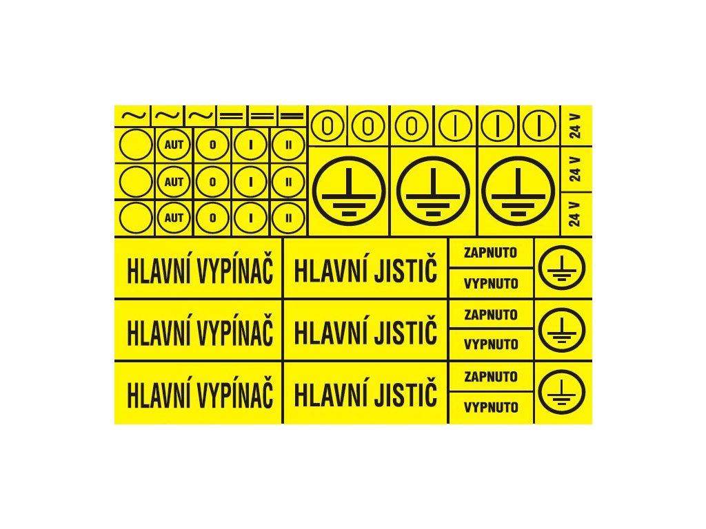 Aršík l značení - 55 symbolů