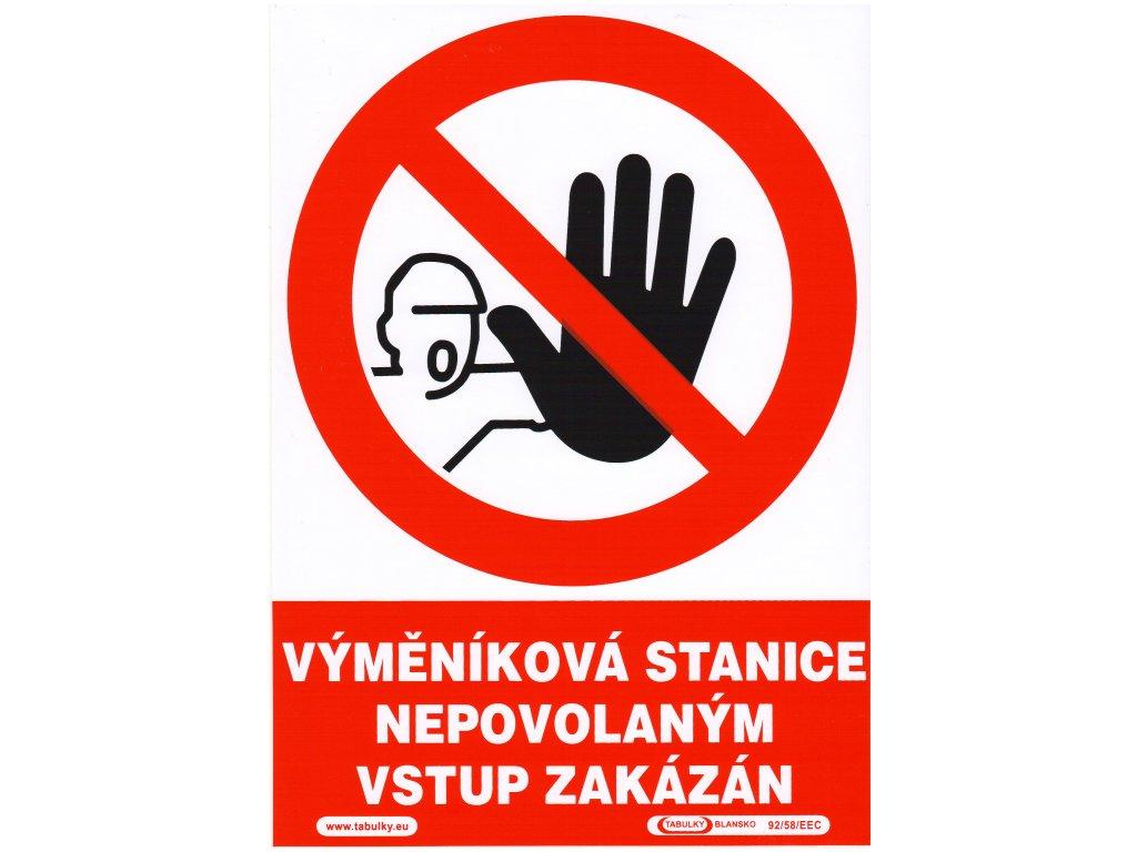 Vyměníková stanice - nepovolaným vstup zakázán