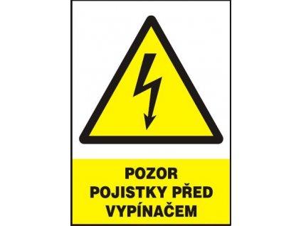 Pozor - pojistky před vypínačem