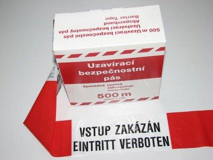 Páska Super 500m s textem Vstup zakázán - Eintritt verbotten
