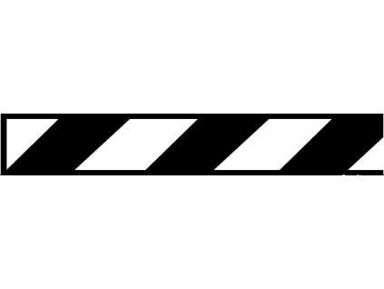 Samolepící pás černě šrafovaný - normové provedení