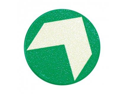 Podlahová šipka hliníková samolepící (průměr 125mm)