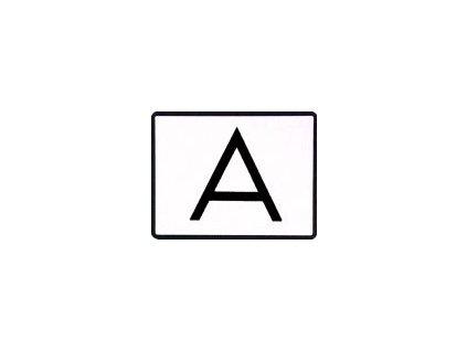 Reflexní tabule A - pevná