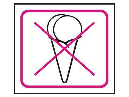 Symbol - zákaz konzumace zmrzliny